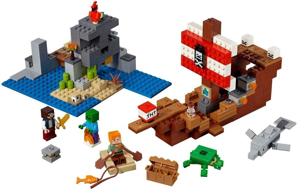 Klocki LEGO MINECRAFT - Przygoda na statku pirackim - 21152