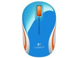 Logitech Mouse M187 niebieska